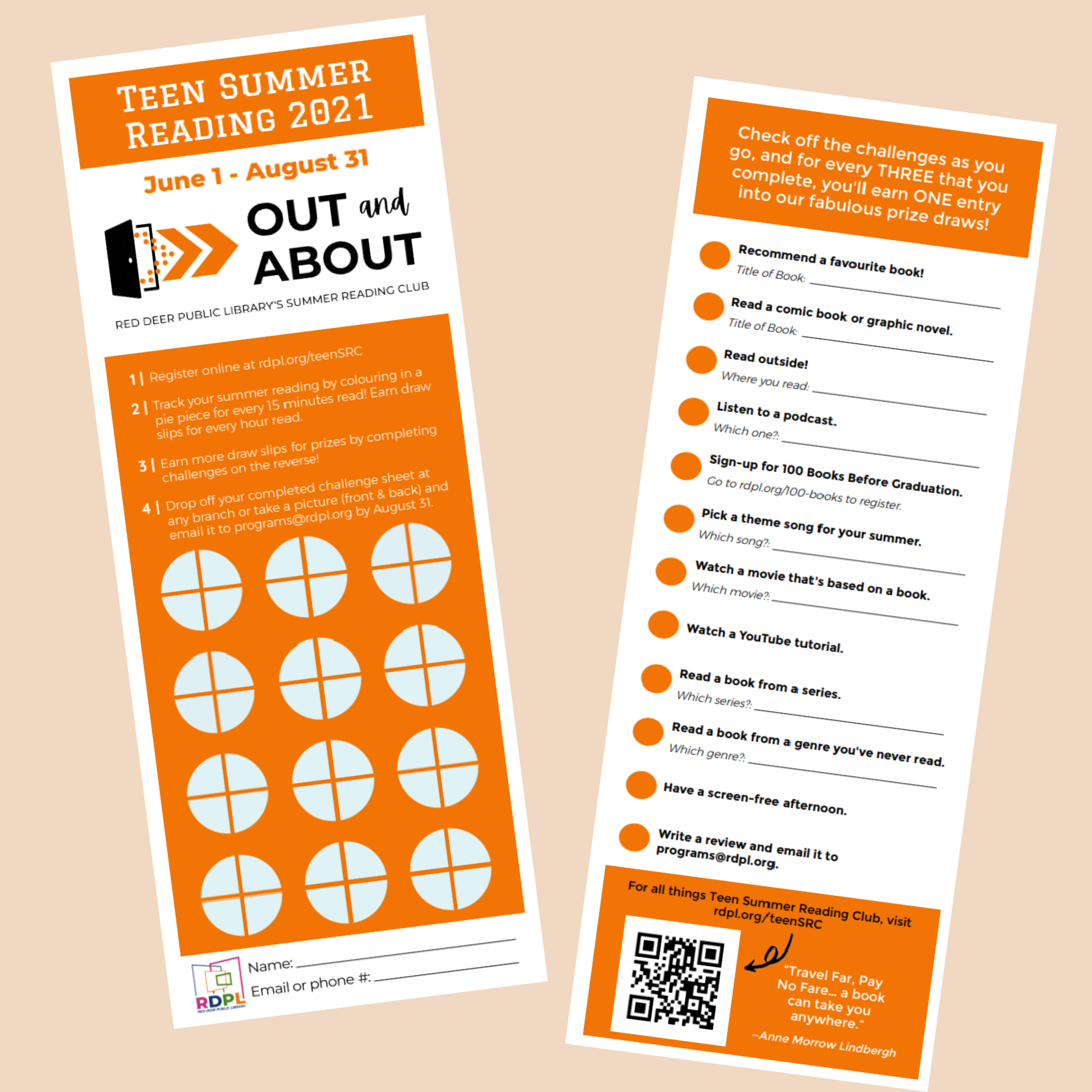Image of teen reading challenge - click to download